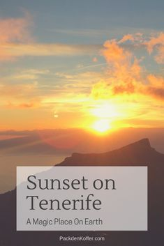 Sunsets on Tenerife are different. Just magic and like from another world. Just Magic, Another World, Travel Agency, Beautiful Islands, Sunsets, Relax, Earth, Vacation, Group