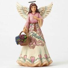 Jim Shore Mother Angel w/Flower Basket