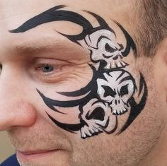 Once you talk a Dad into getting face paint, how do you make sure he doesnt regret it? #doesthiswashoff #miketyson #skullfacepaint