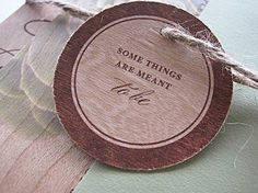 Real Wood Wedding Invitations Modern Succulent by botanicapaperie