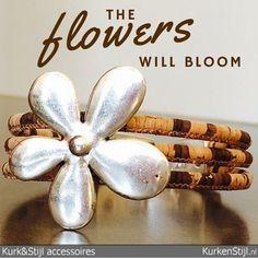 Nog een bloem, maar dan anders! Armband van kurk