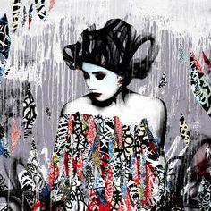By London based artist Hush - graffiti