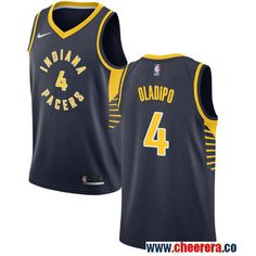 11e36e9eb Men s Nike Pacers  4 Victor Oladipo Navy Blue NBA Swingman Jersey