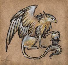 Dark griffin by AlviaAlcedo.deviantart.com on @deviantART