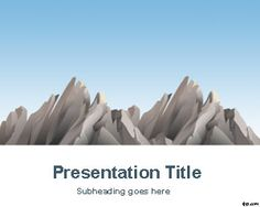 Mountains PowerPoint Template is a free mountain peak PPT template with a nice nature background and nature PowerPoint templates that you can download to make good PowerPoint presentations with a nature touch