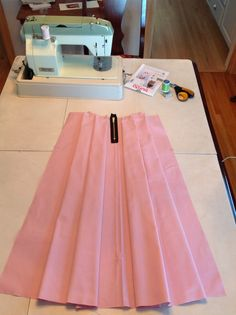 Pleated midi skirt A & L : Sewing Lessons