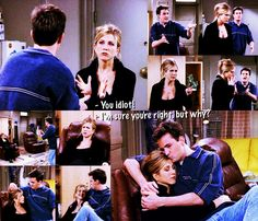 Rachel: Chandler! Patrick just uh, ended things with me. Did you or did you not tell him that I was looking for a serious relationship?  Chandler: I did! I absolutely did!  Rachel: You idiot!!  Chandler: I'm sure you're right, but why?  Rachel: You don't tell a guy that you're looking for a serious relationship! You don't tell the guy that! Now you scared him away!  Chandler: Oh, man. I'm sorry, I'm so, so sorry.  Rachel: Y'know, you should never be allowed to talk to people!