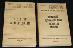KOREAN WAR~ Army Field Manuals- Browning Automatic Rifle & U.S. Rifle~ 1951