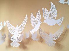 pigeon coupe colombes en papier décoration de nid dange la