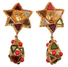Christian Lacroix Haute Couture Earrings   From a unique collection of vintage drop earrings at http://www.1stdibs.com/jewelry/earrings/drop-earrings/