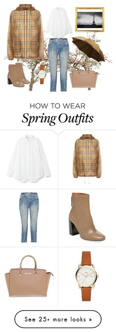 Michael kors, burberry, frame and rainydayoutfit spring outfits, burberry, mich Fall College Outfits, Casual Summer Outfits, Casual Fall, Spring Outfits, Winter Outfits, Burberry, Michael Kors, Frame, How To Wear