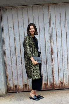 Zara Culottes. City Look mit Leoprintmantel als Hingucker.