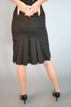 Black Cotton Pleated Pencil Skirt Custom Sized This is crappy modeling, but the skirt is great. Skirt Outfits, Dress Skirt, Work Fashion, Fashion Outfits, Skirt Images, Latest African Fashion Dresses, Classic Skirts, Work Skirts, Formal Skirt