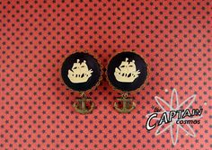 Ship boat  cameo gauges plugs 16mm 5/8 anchor by TheCaptainCosmos