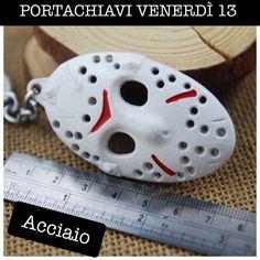 PORTACHIAVI VENERDÌ 13 MASCHERA ACCIAIO