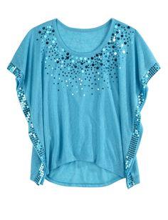 Girls Clothing | Short Sleeve | Embellished Circle Top | Shop Justice
