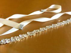 Crystal Bridal Sash  Rhinestone Sash Belt  by FashionaryDesign