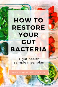 How to restore and improve your gut bacteria for a healthy gut and to balance a healthy digestion. With tips for gut health, supplements to support your gut, what foods to include in your diet and foods to avoid plus a gut health sample meal plan. Weight Loss Meals, Diet Plans To Lose Weight Fast, Best Diet Plan, Healthy Diet Plans, Healthy Foods To Eat, Vegan Diet Plans, Healthy Meal Planning, Menu Planning, Healthy Tips