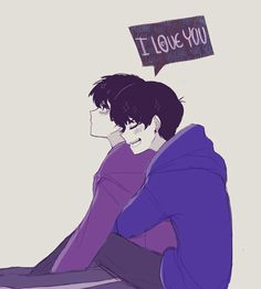 I love you KaraIchi by MParkaS on DeviantArt Osomatsu San Doujinshi, Hot Anime Boy, Anime Boys, I Love You, My Love, Ichimatsu, Wattpad, Anime Ships, I Am Awesome