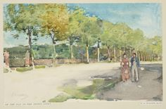 Edward Arthur Walton (1860-1922), On the Way to the Tennis Court. Pencil and watercolour, 13.9 x 22.3 cm. RCIN 922826. Royal Collection Trust/© Her Majesty Queen Elizabeth II 2015