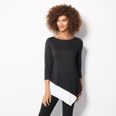 Image result for avon asymmetric colorblock top