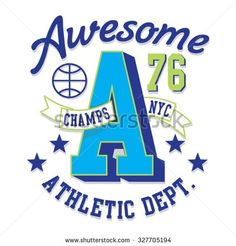 Athletic sport awesome typography, t-shirt graphics, vectors