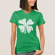 St Patricks Day tee shirt for irish women and girls. Vintage distressed look 4 leaf clover design on front and back. Cute Saint Patricks Day clothing for men women and kids. Size: Adult L. St Patricks Day Clothing, Irish T, St Patricks Day Parade, Irish Girls, St Patrick Day Shirts, St Paddys Day, Green Fabric, Tee Shirts, T Shirts For Women