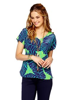 Asher Top in Under The Palms - $128  #lillypulitzer