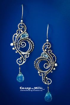 """Silver wire wrapped earrings / Серьги ручной работы. Ярмарка Мастеров - ручная работа. Купить """"Eurynome """" Серебряные серьги. Handmade. Украшение, подарок женщине"""