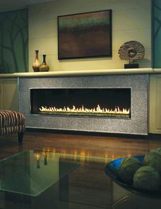 Awesome Contemporary Fireplace Design Ideas 13 (Awesome Contemporary Fireplace Design Ideas design ideas and photos Fireplaces Tv Above Fireplace, Linear Fireplace, Fireplace Mantle, Living Room With Fireplace, Fireplace Surrounds, Fireplace Ideas, Fireplace Stone, Mantel Ideas, Fireplace Inserts