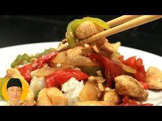 Frango Xadrez passo a passo - YouTube Carne, Sushi, Meat, Chicken, Youtube, Oriental, Food, Fried Chicken, Brisket