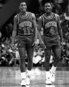 Detroit-Pistons-ISIAH-THOMAS-JOE-DUMARS-Glossy-8x10-Photo-NBA-Basketball-Print