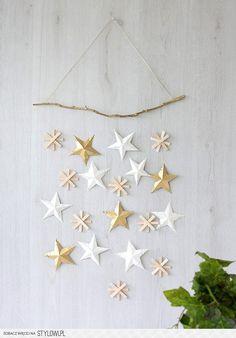 DIY CHRISTMAS POM POM STOCKING AND STAR WALL HANGING FO…