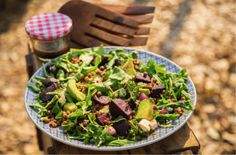 Roasted Beetroot, Avocado and Lentil Salad Serves 4   Preparation time 10 minutes   Cooking time 30 minutes (mostly unattended) WHAT YOU'LL NEED 500g fresh whole beetroot 1–2 Tbsp olive oil ½ tsp ground cumin ½ tsp ground coriander 1 x 400g can lentils, drained ½ red onion, finely chopped two handfuls of baby spinach … Continue reading Roasted Beetroot, Avocado and Lentil Salad