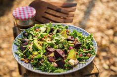 Roasted Beetroot, Avocado and Lentil Salad - Sarah Graham Food Lentil Salad, Feta Salad, Graham Recipe, Sarah Graham, Ground Coriander, Beetroot, My Favorite Food, Cooking Time, Salads