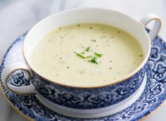 Homemade Cream of Celery Soup! So EASY to make and so much better than the canned stuff. On SimplyRecipes.com #Creamofcelerysoup #CelerySoup #Soup