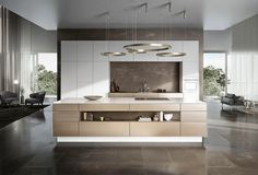 Functional design and style with great storage capacity, those are the characteristics of Cocinart's modern-style kitchens. We will design your perfect kitchen in Palma de Mallorca. Kitchen Room Design, Modern Kitchen Design, Kitchen Interior, Modern Kitchen Island, Küchen Design, House Design, Design Ideas, Interior Design, Modern Kitchens