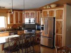Two Tone Painted Kitchen Cabinet Ideas neutral kitchen with two-tone painted cabinets. not a fan of the