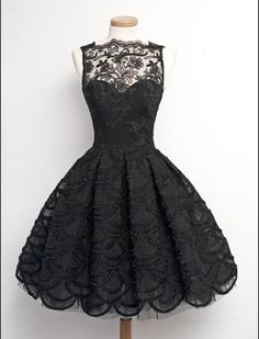 Cutie. :3 #Black #Lace #Dress