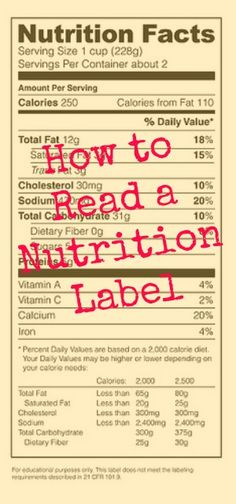 We have a simple guide to reading a nutrition label because, well, there's a lot goin' on there! | via @Harriet Adkins Bottomed Girls