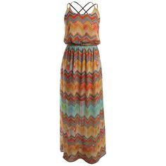 KUT Jackie Geo Print Maxi Dress found on Polyvore