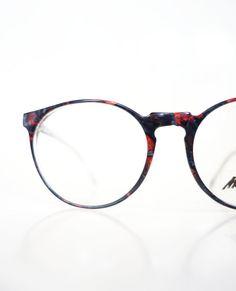 1960s Round Marchon Eyeglasses Womens Unisex 60s by OliverandAlexa