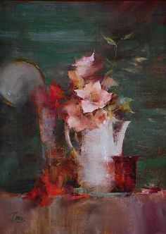 Pink Amaryllis  |  oil  |  11 x 8 inches (Lost and sharp edges)