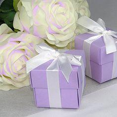 48x Kartonage Stuhl weiss Gastgeschenke Hochzeit Hochzeitsmandeln Verpackung Box