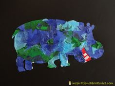 Tissue Paper Art Inspired by Eric Carle {part of the Virtual Book Club for Kids} - Check out all of the Eric Carle inspired ideas. Projects For Kids, Art Projects, Crafts For Kids, Arts And Crafts, Paper Crafts, Infant Activities, Craft Activities, Tissue Paper Art, Kindergarten Language Arts