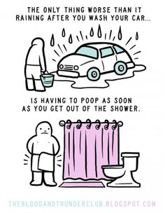 I freaking hate to shit right after a shower!!