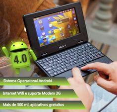 Netbook e-Join com Android 4.0 e homologado pela Anatel - NOVY - SH