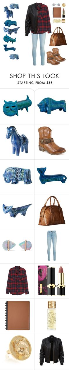 """From Texas to Rimini"" by diabolissimo ❤ liked on Polyvore featuring Bitossi, Pierre Dumas, Frye, Melissa Joy Manning, J Brand, Rails, Pat McGrath, Houbigant, Alexa K and LE3NO"