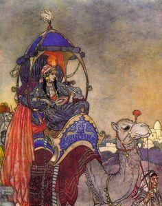 """La Reine de Saba"" ~ (The Queen of Sheba) Edmund Dulac"