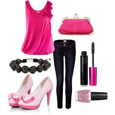 """""""PINK"""" by rachelle-baker on Polyvore"""